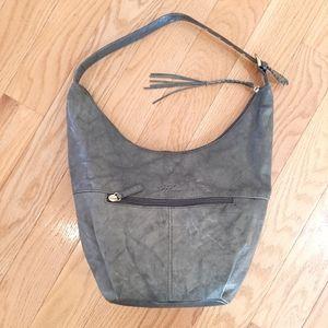 Stone Mountain Sage Green Leather Shoulder Bag